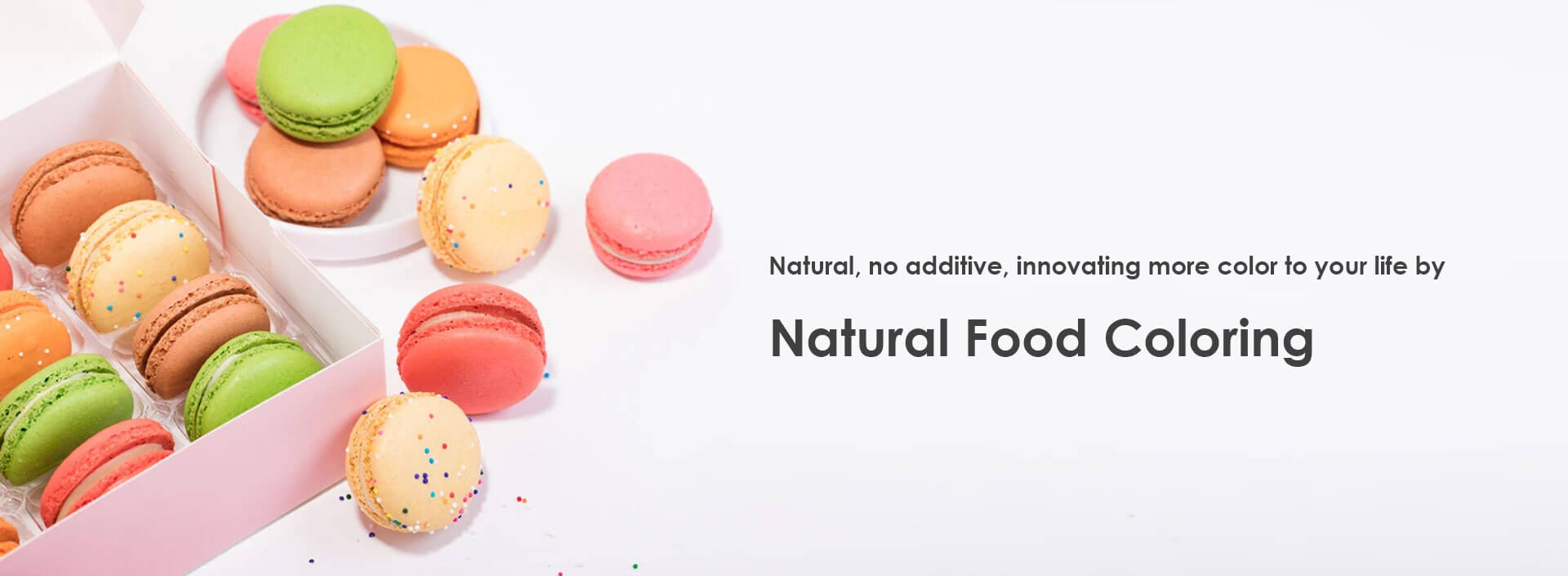 Naural, no additive, innovating more color to your life by natural food coloring